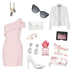 Pink me by styleideasbymoka on Polyvore featuring polyvore, fashion, style, BCBGMAXAZRIA, Ally Fashion, Christian Louboutin, Michael Kors, Kenneth Jay Lane, Fendi, NARS Cosmetics, Marc Jacobs and clothing