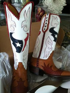 New Boots of Shaun Cody #95 Texans Nose Tackle