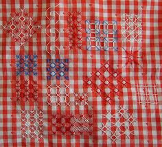 Chicken scratch on Gingham fabric | Flickr - Photo Sharing!