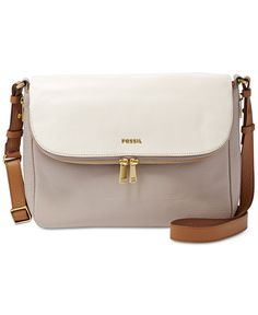 Fossil Preston Colorblock Leather Crossbody - Fossil - Handbags & Accessories - Macy's