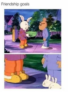 Friendship goals. Arthur and Buster True Friends, Best Friends, Daily Funny, Friendship, Relationship Goals, Art Pieces, Family Guy, Hero, Humour