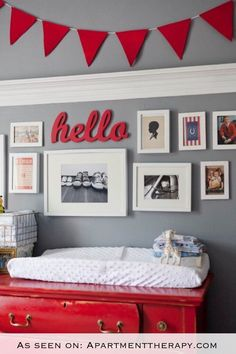 hello Sign, wood hello sign, red wood hello sign, red decor, red vintage, red ans blue, boys baby room, boys baseball decor, red baseball by tolittlearrows on Etsy https://www.etsy.com/listing/243735836/hello-sign-wood-hello-sign-red-wood