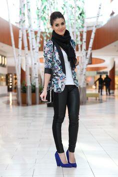 10-enero-13-Pantalones: Zara / Race: Thelure / Blazer: Kohls ( Lauren Conrad Collection ) / Pulsera: Ludora / Scarf: Forever21 / Zapatos y bolso: Zara