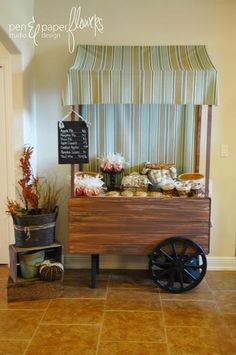 My dream party station......very heavy sigh..........  Hey Husband!!!.....Hostess with the Mostess® - French Market Peddler's Wagon Dessert Cart