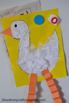 Farm animal crafts for toddlers tissue paper duck craft for toddlers crafts and worksheets for preschool Duck Crafts, Farm Animal Crafts, Farm Crafts, Farm Animals, Preschool Projects, Daycare Crafts, Preschool Crafts, Letter D Crafts, Alphabet Crafts
