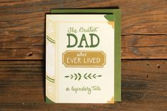 Greatest Dad Book Card
