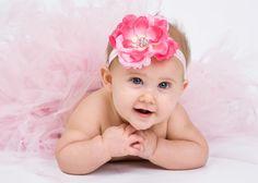 Spring Baby Headband Bright Pink Flower on by LittleMissBlingNYC, $9.95