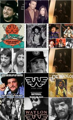 Waylon Jennings collage