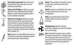 reiki symbols and meanings usui - Google Search