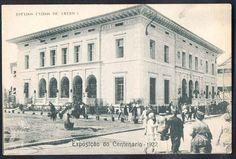 Rio de Janeiro - Exposição do Centenario 1922 - Pavilhão dos EUA - Bilhete Postal antigo original, editado por A. C. da Costa Ribeiro.