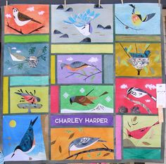 an epic quilt featuring Charley Harper birds!