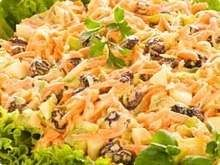 Salpicão. Mayo made with chicken, carrots, corn, peas, olives or raisins, toped with deep-fried finally grated potatoes for an extra crunch.