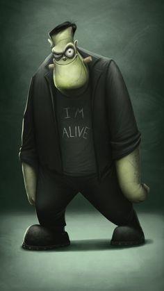Frankenstein -  ilustração de Anna Kulakovskaja
