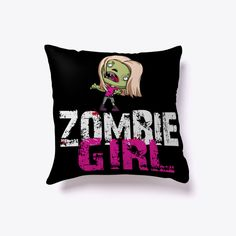 🎃😰 🕸🦇☠ Halloween Pillow! Zombie Girl Black #Halloween #Pillows #pillow #Halloween2017 #Halloween2018 #Cushions #Spider #Webs #Skeletons #Pumpkin #Witch #Scary #items #Trick #Treat #HalloweenGift #TeespringPillows #Home #Decor Collection  #Humor #HalloweenGift #NewPillow #HalloweenNight #Halloween Home #Accessories #Bed #fashion #luxury #decorations  #Horror #Artistic #Trending #Sleeping #pillow2017 #Pillow2018 #HalloweenCostumes #ChristmasGift2017 #Spooky #Gift #Idea