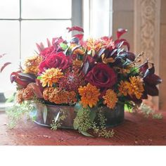 Rustic Mums Centerpiece for a wedding or for the home