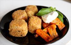 Tonnikalapyörykät  200 ℃ 20 min porkkanat 200 ℃ 30 min