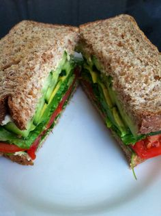 Veggie-packed, energy dense vegan sandwich ready to eat!