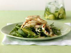 Gegrillter Calamari-Salat mit Rucola