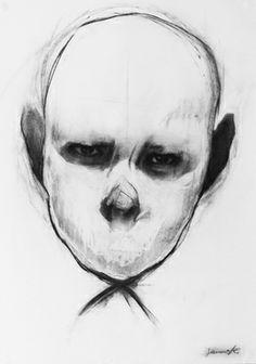 """Saatchi Art Artist Michał Janowski; Drawing, """"Head Study"""" #art"""