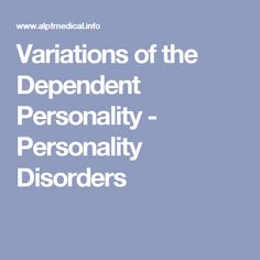 48 Best Dependent Personality Disorder images in 2019