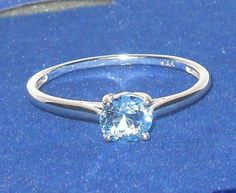Blue Topaz Solitare Ring size 9   #Unbranded #Solitaire http://stores.ebay.com/JEWELRY-AND-GIFTS-BY-ALICE-AND-ANN