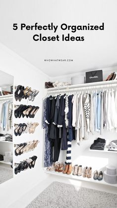 These closets are nothing less than perfect. Get some serious closet organization inspiration here.