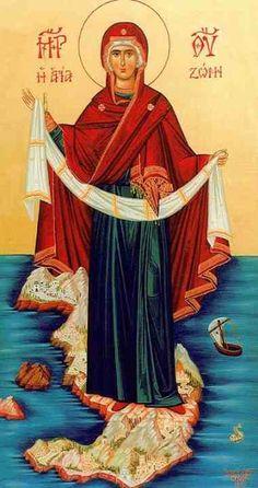 Icon of Panagia Religious Images, Religious Icons, Religious Art, Byzantine Icons, Byzantine Art, Famous Freemasons, Jesus Christus, Holy Mary, Orthodox Christianity