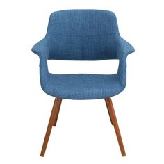 Found it at Joss & Main - Monaghan Arm Chair - comes in Blue and Red