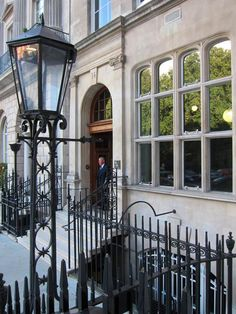 The London Library at 14 St James Square SW1 is rather like a gentleman's club, comfy leather chairs and 15 miles of book shelves to peruse. Sounds like heaven to me