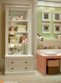 Quartos e Etc - Quarto de menina contemporâneo rosa e verde