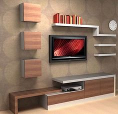 Modern Tv Wall Unit Designs for Living Room - Modern Tv Wall Unit Designs for Living Room , Tv Unit Design Inspiration for Your Home — Best Architects Tv Cabinet Design, Tv Wall Design, Shelf Design, Living Room Tv Unit, Living Room Decor, Living Rooms, Wall Cabinets Living Room, Tv Rooms, Decor Room