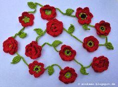 Crochet Poppy, Crochet Flowers, Knitting Blogs, Handfasting, Flower Garlands, Crochet Accessories, Poppies, Crochet Earrings, Crafty