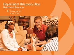 Interested in psychology, sociology, social work, criminal justice, or family science? Come to their department visit day at Anderson University on Friday, November 21. http://anderso.nu/behavior-sciences