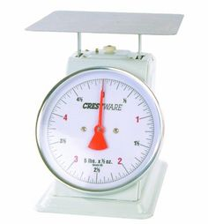 "Crestware Heavy Duty Scale 6-Inch Dial Face, 5-Pound by 1/2-Ounce Scale by Crestware Commercial Kitchen. $47.99. Economical, Scale. Commercial use. Professional grade. Durable, heavy duty. High quality. 6"" Inch Dial Scale, 5 lb x .25 oz Scale. For professional use. Made for heavy duty, high usage food service businesses."