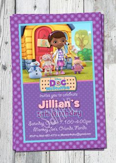 Items similar to Doc McStuffins Invitation: Printable Dr. Mc Stuffins Birthday Invite, YOU PRINT. Matching Party Printables, other Invitations Available on Etsy Girls Party Invitations, Print Your Own Invitations, Custom Birthday Invitations, Party Favors, Doc Mcstuffins Birthday Party, Frozen Birthday Party, Printable Invitation Templates, Party Printables, Girl Birthday Themes