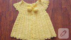 sari-tig-isi-guzel-bebek-yelegi Crochet For Kids, Crochet Baby, Kids Dress Clothes, Short Sleeve Dresses, Dresses With Sleeves, The Dress, Dress Outfits, Summer Dresses, Baby Dresses