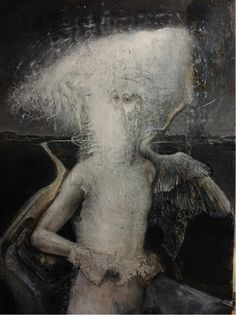 'God', 2012, oil on wood ~ by Agostino Arrivabene (b1967, Italy).