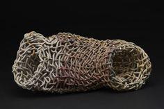 Phyllis Sullivan Vortex con la Línea de Oro Nº 4, 2016 Gres, pan de oro 5 x 12 x 6 pulgadas de 12,7 x 30,5 x 15,2 cm PSu 6
