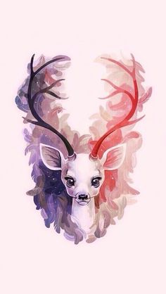 deer, animal, and art i