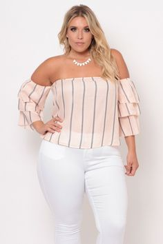 Curvy Sense - Trendy Plus Size Tops Looks Plus Size, Curvy Plus Size, Plus Size Tops, Trendy Plus Size, Curvy Outfits, Fashion Outfits, Womens Fashion, Fashion Trends, Fashion Top