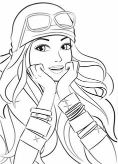 Free Kids Coloring Pages, Barbie Coloring Pages, Princess Coloring Pages, Adult Coloring Book Pages, Disney Coloring Pages, Free Printable Coloring Pages, Coloring Books, Barbie Painting, Barbie Drawing