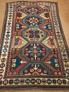 Antique Rare Caucasian Kazak rug, c. Antique Rare, Morrocan Rug, Palestinian Embroidery, Cheap Carpet Runners, Textiles, Rustic Rugs, Persian Carpet, How To Clean Carpet, Rugs On Carpet