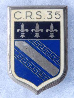 INSIGNE C. R. S. - POLICE - OBSOLETE - C.R.S. 35