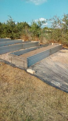 Easy Raised Garden Beds Corrugated Sheets Cut In Half Held Place With 1