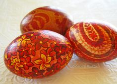 Old World Dragon Fire Decoupage Easter Eggs