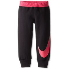 Nike Kids Nike Cuff Fleece Pant (Toddler) ($36) ❤ liked on Polyvore featuring black and pants