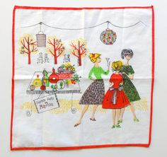 Vintage  Handkerchief Garden Party
