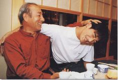 Takeshi Kaneshiro and his father. On a serious note, this picture is very touching. It's obvious that there is a lot of affection there. :)