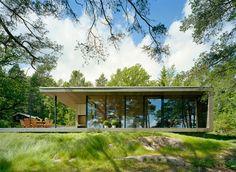 moderne Hütte Holzfassade