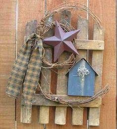 Primitive home decor - hand made barn fences - primitive home decor pictures